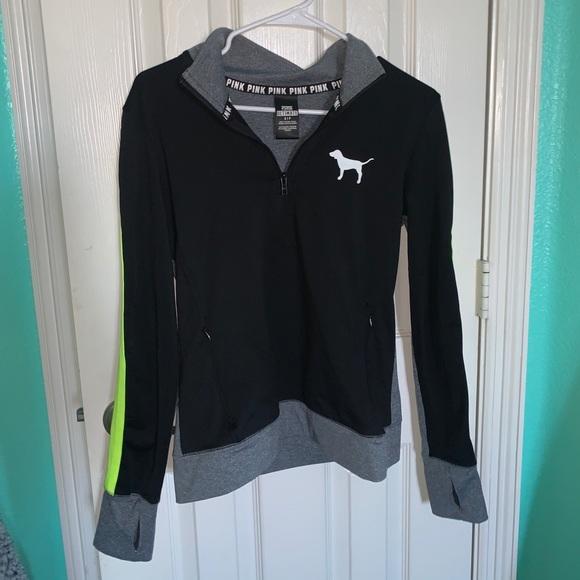 athletic quarter zip PINK jacket